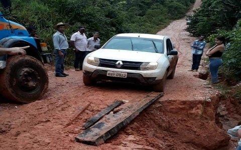 Estrada rural em Juína coloca em risco vida de motoristas